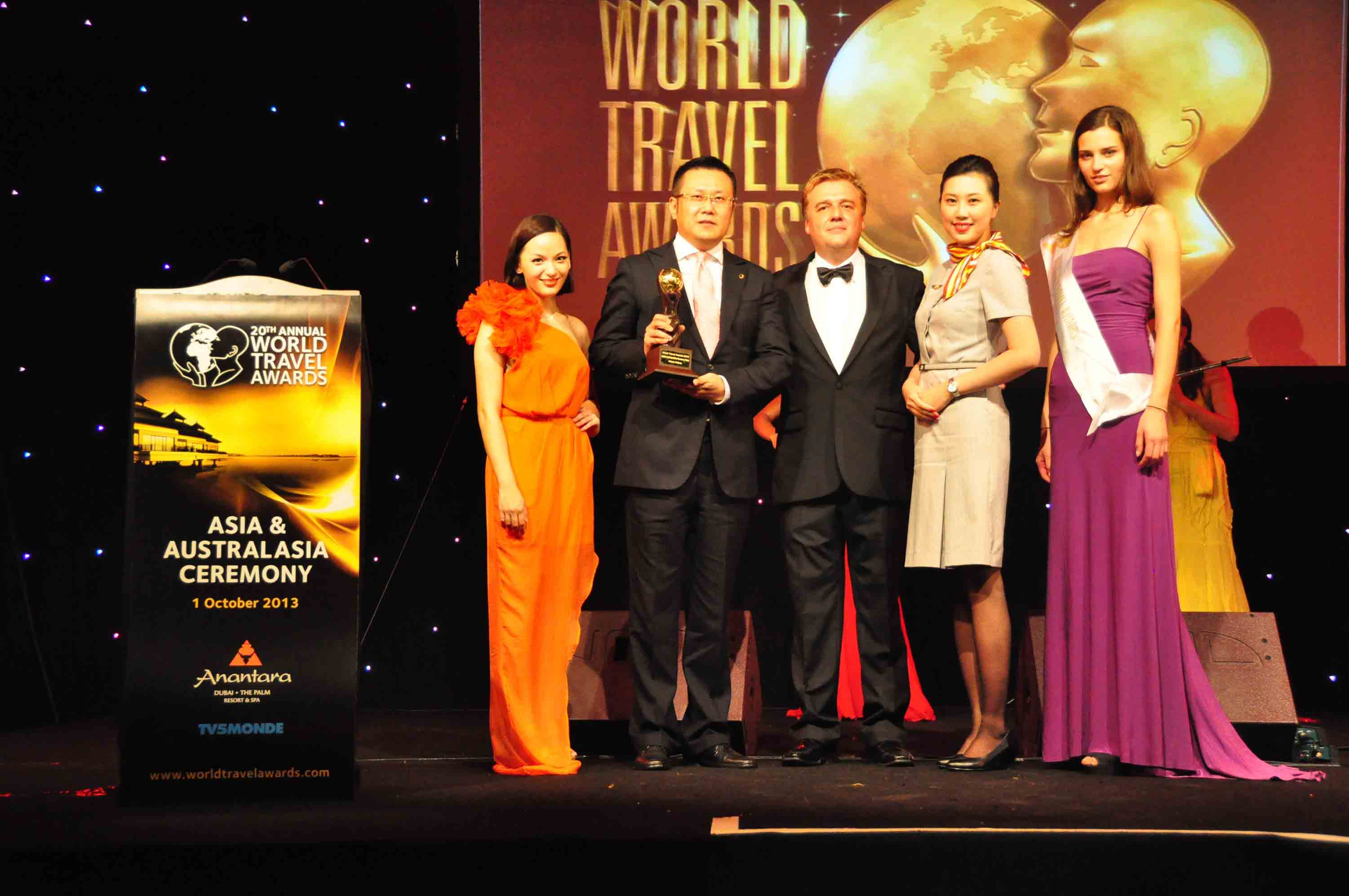 Hainan Airlines Honored as Asia's Leading Airline Economy Class for 2013