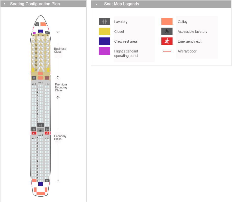 Boeing 787 9 Reverse Herringbone Seat Layout