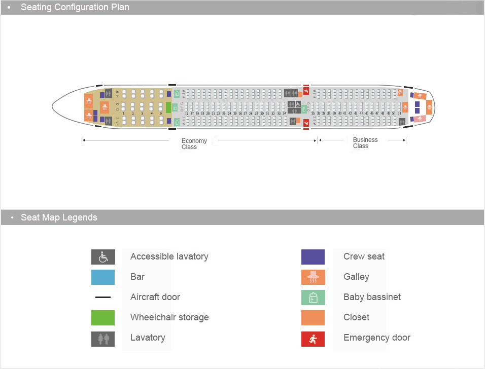 This is the Two Layout of Seating chart of Airbus 350.